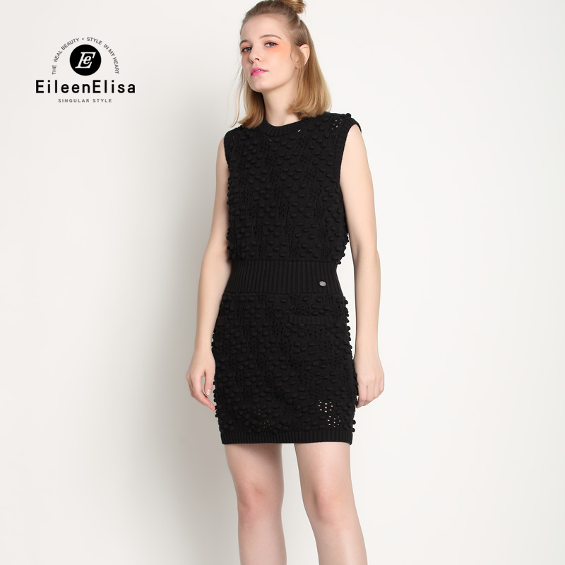 Взлетно-Посадочная Полоса Черный Летнее Платье Высокая Талия Платья Марка Лето Роскошь Bodycon Платье Трикотажное Платье