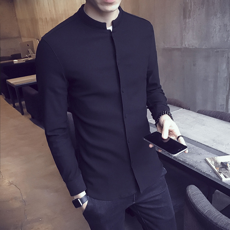 Autumn new jacket men's stand collar Korean version of the self-cultivation trend casual handsome thin baseball uniform jacket