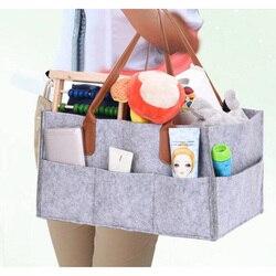 Pielucha dla niemowląt organizer do wózka torba podróżna do samochodu przedszkole kosz do przechowywania kosz filcowy dla niemowląt UD88 w Składane torby do przechowywania od Dom i ogród na