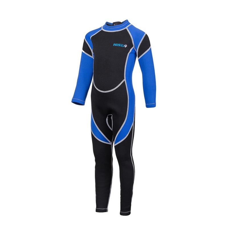 2.5MM Neoprene Child Wetsuit Kids Long Sleeve One Piece Swimwear Rashguard Boys Girls Sun-protection Warm Dive Wet Suits