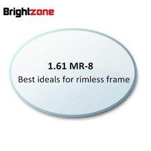 1.61 MR 8 High Quality Customized  Rimless Glasses Optical Lenses Aspheric Lens Myopia Eyeglasses Prescription Lens Ocular