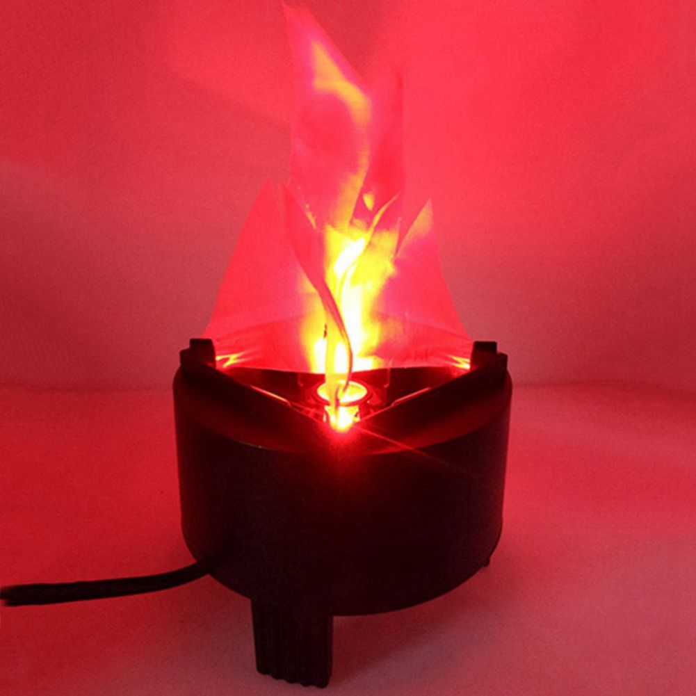 US Plug Christmas LED Fake Flame Effect Lamp Torch Light Fire Pot Prop Party Home Decor