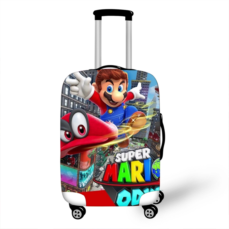 18-32 Inch Mario Bros Sonic Elastic Luggage Protective Cover Trolley Suitcase Dust Bag Case Cartoon Travel Accessories