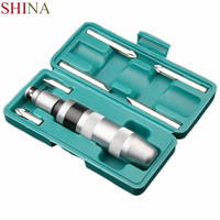 SHINA Manual Set 7PCS Remove Stubborn Nut Rusted Screw Hammer Screwdriver Tapping Bit CRV Material Impact Screwdriver
