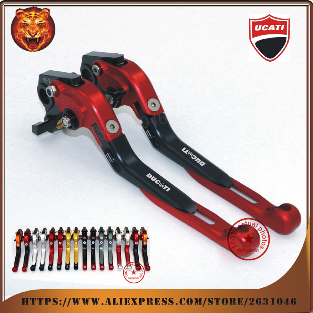For DUCATI Monster 400 620 620-MTS 620MTS MTS 695 S2R 800 red black Motorcycle Adjustable Folding Extendable Brake Clutch Leve mtkracing motorcycle cnc adjustable folding extendable brake clutch levers for ducati monster 696 695 796 400 620 s2r st4s