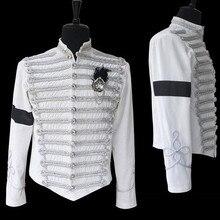 MJ Майкл Джексон классический ручной английский военный белый пиджак формальное платье Casaul шоу на Хэллоуин Подарочная коллекция