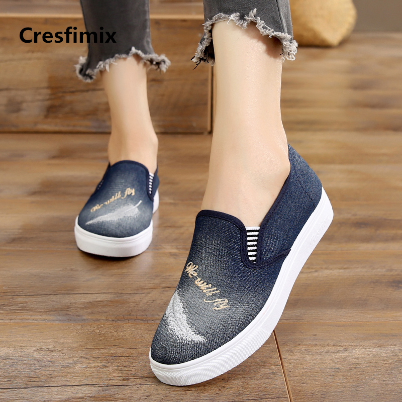 Cresfimix women fashion comfortable light weight slip on flat shoes female cool spring & summer flats lady casual shoes a784Cresfimix women fashion comfortable light weight slip on flat shoes female cool spring & summer flats lady casual shoes a784