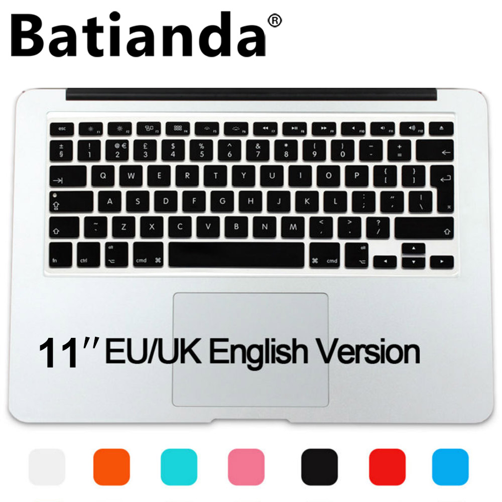 Ultra Thin Silicone Keyboard Cover Protector Skin for MacBook Air 11 Soft Keyboard Stickers-Pink