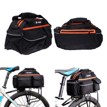 15L Waterproof Polyester Cycling Bicycle Rear Seat Rack Storage Trunk Bag Handbag Pannier Travel Riding Mountain Road Bike Bags