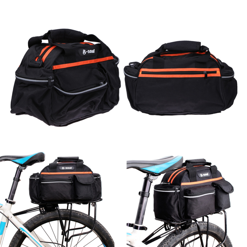 15L Waterproof Polyester Cycling Bicycle Rear <font><b>Seat</b></font> <font><b>Rack</b></font> Storage Trunk Bag Handbag Pannier Travel Riding Mountain Road Bike Bags