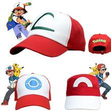 Аниме косплей карманные монстры костюмы шапки Покемон Кепка Ash Ketchum
