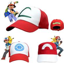Anime Monstro de Bolso Cosplay Trajes Chapéus Cap Pokemon Ash Ketchum(China)