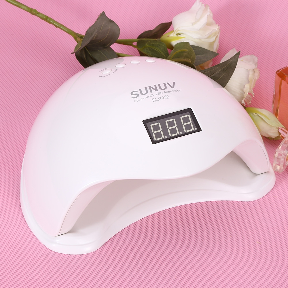 SUNUV SUN5 48W Nail Lamp Dryer LED Phototherapy Drying Nail Gel Polish Lamp Manicure Tool for Nails suelina sun 36w nail dryer upgraded diamond leduv lamp for nail art dryer gel nail polish drying manicure hotsale 13days only