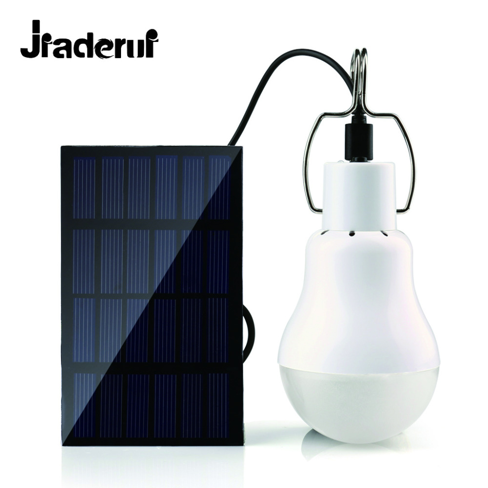 Jiaderui Solar Lamp Portable Led Bulb Solar Energy Led Lighting Solar Panel Camp Tent Night Fishing