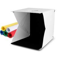 Mini studio box, 40x40x40cm portable photographic light tent set, white folding lighting soft light box with 6 colors
