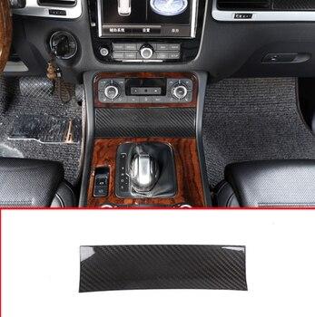 Real Carbon Fiber Material For Volkswagen 2011-2018 Car Center Console Storage Box Decorative Panel Cover Trim Accessories