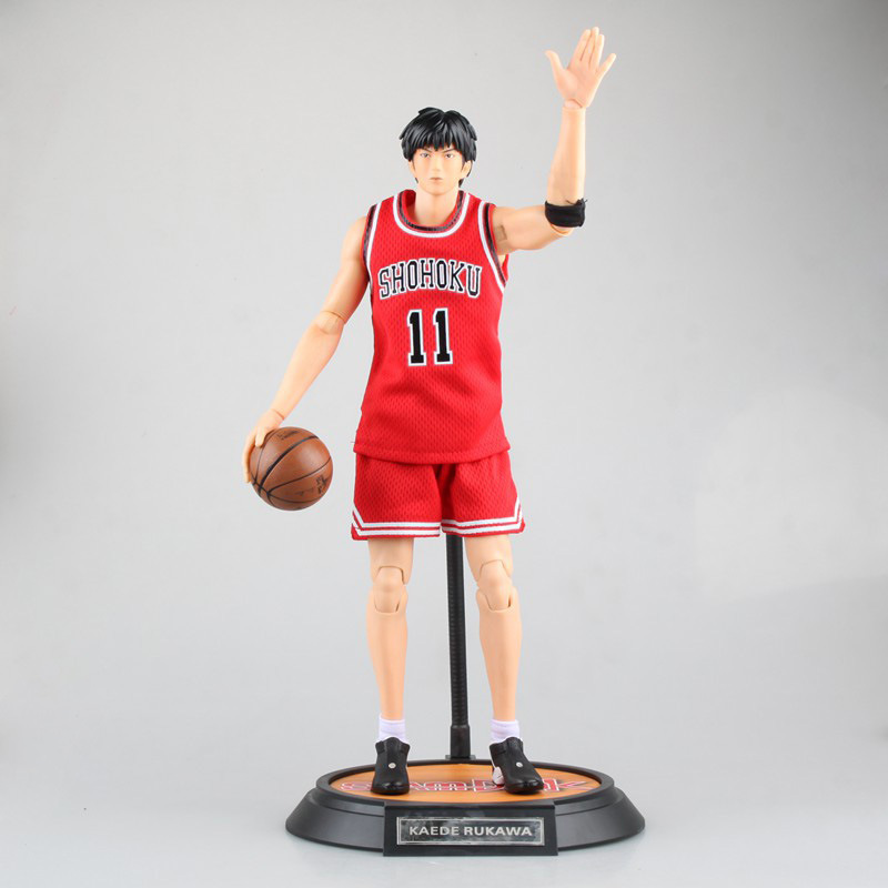Slam Dunk #11 Rukawa Kaede Variable Doll PVC Action Figure Collectible Model Toy 34cm KT3944 huong anime slam dunk 24cm number 11 rukawa kaede pvc action figure collectible toy model brinquedos christmas gift