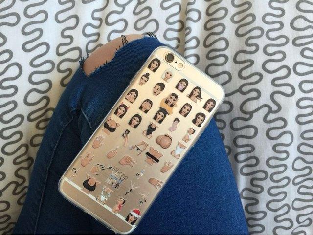Kimoji Kim Kardashian Cases For iphone 5 5S SE 6 6S 6PLUS 6SPlus  Clear Ultra thin TPU Crying Face Cover