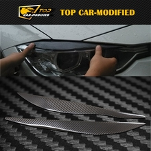 100% Real Carbon Fiber Headlights Eyebrows Eyelids for BMW F30 320i 325i 316i Front Headlamp Eyebrows 3 series accessories