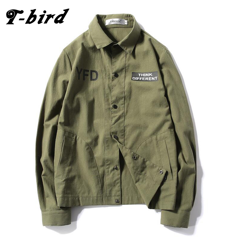 T-Bird Brand Clothing Men Jacket 2017 Leisure Soft Bomber Jacket Tactical Hooded Casual Slim Male Military Polyester Coats Men