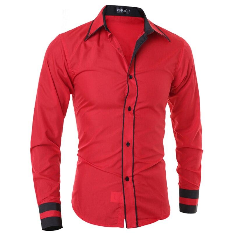 Мужчины рубашка 2016 мода бренд мужской манжеты полосатый с длинными рукавами рубашки мужчины camisa masculina повседневная тонкий сорочка homme xxl sjqwe