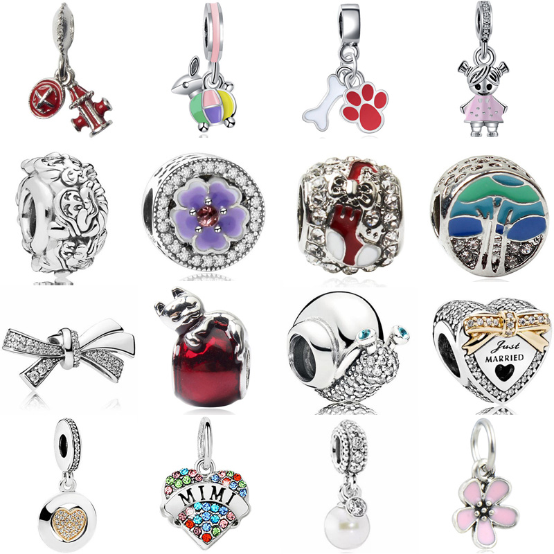Jewelry & Accessories Punk Simple Style Wing Snake Glass Beads Key Dream Catcher Leaves Crystal Beads Charms Fit Pandora Bracelets Diy Making Jewelry Beads & Jewelry Making