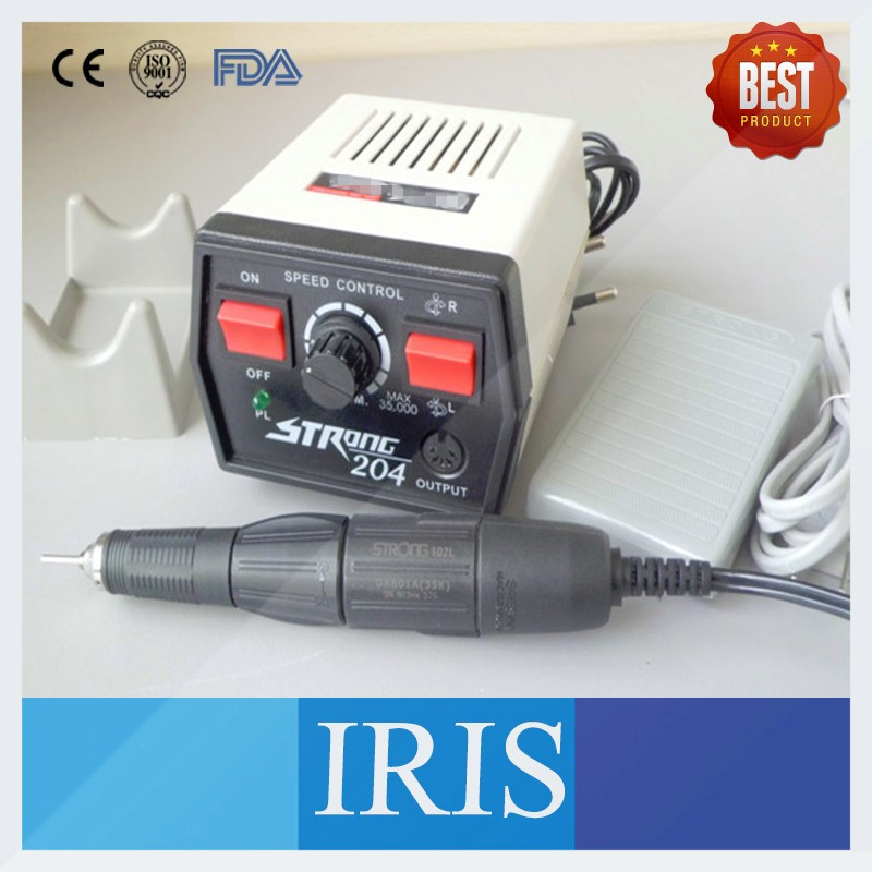 Wholesale Dental Lab Polishing Micromotor Hand piece High Speed 33000rpm Strong204 102/ 102L Micromotor Hand piece original korea strong 204 electric micromotor strong 102l dental lab hand polishing polisher 220v 0 35000 rpm teeth whitening