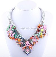 high quality necklaces, trendy fashion big flower necklace, women's favorite gift