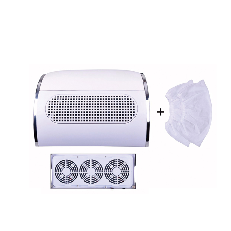 New 40W Powerful Nail Dust Suction Collector with 3 Fan Vacuum Cleaner Manicure Tools with 2 Dust Collecting BagsNew 40W Powerful Nail Dust Suction Collector with 3 Fan Vacuum Cleaner Manicure Tools with 2 Dust Collecting Bags