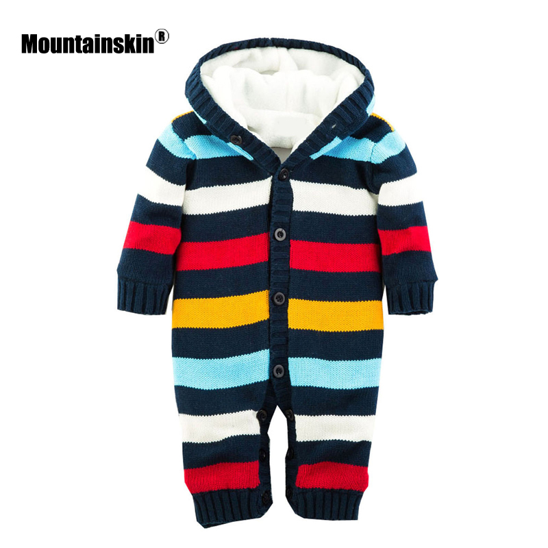 Mountainskin 2017 Winter Autumn Spring Baby Boys Girl Sweater Kids Rompers Children Suit Cardigan Thick Warm Outwear 0-24M SC895 warm thicken baby rompers long sleeve organic cotton autumn