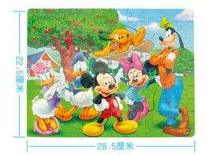 Image 2 - Disney Frozen Mickey Minnie Mouse Sofia Mermaid Duck Puzzle 100 Pieces Learning Educational Interesting Wooden Toys For Children
