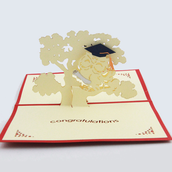 Graduation Season Thanksgiving Card 3D Kirigami Postcards Handmade Gift Stationery Kcs In Cards Invitations From Home Garden On Aliexpress