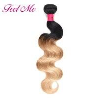 Feel Me Indian Hair Bundles 1b/27 Body Wave Hair Extensions Blonde Bundles Ombre Human Hair Weaves Bundle Deals Non remy
