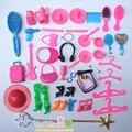 45 пунктов мешок гребень крышка обувь составляют Куклы Аксессуары Для барби Куклы/Монстр Высота Куклы Игрушки для Девочек Детские Игрушки Играть Дома