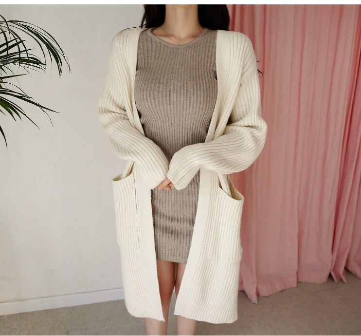 HTB1K24 bdfvK1RjSspfq6zzXFXai - skinny  solid Elegant Autumn Dress Girls Boho Female Vintage Dress knitting Women LongSleeve Women Dresses knitted Robe Vestido