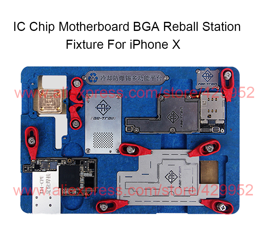 IC Chip BGA Reball Stenil Soldering Station Holder for iPhone X PCB Motherboard Fixture A11 CPU NAND Flash Circuit Repair Tool mechanic soldering flux welding paste tin cream sn63 pb37 for bga reball stencil for iphone samsung chip ic repair