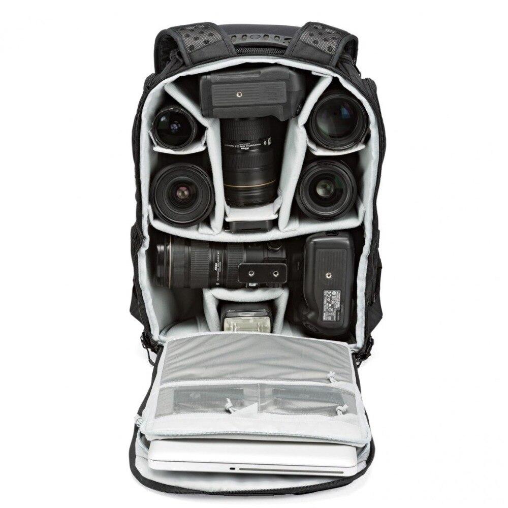Genuino Lowepro ProTactic 450 aw hombro Cámara bolsa SLR Cámara bolsa Laptop mochila con todas las cubiertas meteorológicas 15,6 pulgadas portátil - 3
