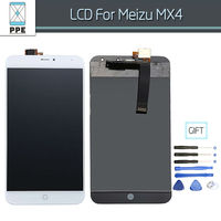100 Guarantee Tested LCD For Meizu MX4 LCD Display With Touch Screen Digitizer Assembly Black White