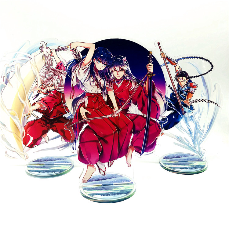 Anime Inuyasha Display Stand Figure Model Plate Holder Japanese Cartoon Figure Kagome Acrylic Collection Jewelry Christmas Gift