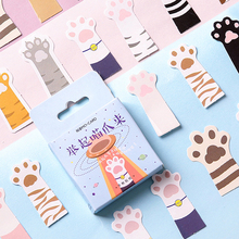 45Pcs/box Kawaii Cats paw Mini Paper Decoration DIY Scrapbook Notebook Album seal Sticker Stationery Holiday gift Girl
