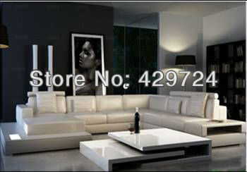 Luxury Sofa, Italy Design Large Size Couches Genuine Leather Sofa Corner Sofa  Set With Chaise