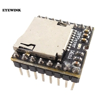 50pcs Mini MP3 Speler Module TF Kaart U Disk Mini MP3 Speler Audio Voice Module Board Voor Arduino DF spelen Groothandel