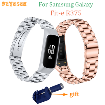 Replacement Stainless steel band For Samsung Galaxy Fit-e R375 watch band For Galaxy Fit-e R375 Bracelet watches Strap wristband laforuta silicone band for galaxy fit e strap rubber sport wrist band for samsung r375 loop women men fitness bracelet 2019