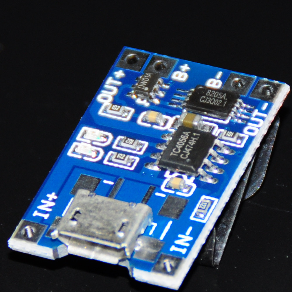 2pcs 1A 5V 18650 TP4056 Micro USB Lithium Battery Charger Module 18650 Lipo Li-ion Lithium Battery Charging and Protection Board (3)