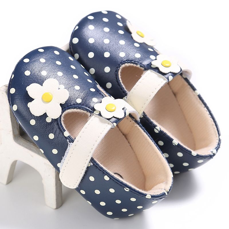 Spring Autumn Baby Girls Beautiful Princess First Walkers Fashion Girls Floral Shoes Hook & Loop PU kids Shoes