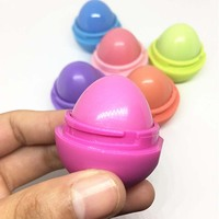 Makeup Round candy color Moisturizer Moisturizing lip balm Natural Plant Sphere lips gloss Lipstick Fruit Embellish spherical