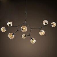 Vintage Loft Industrial Pendant Lights Black Gold Bar Stair Dining Room Glass Shade Retro Lindsey adelman Pendant Lamp Fixtures