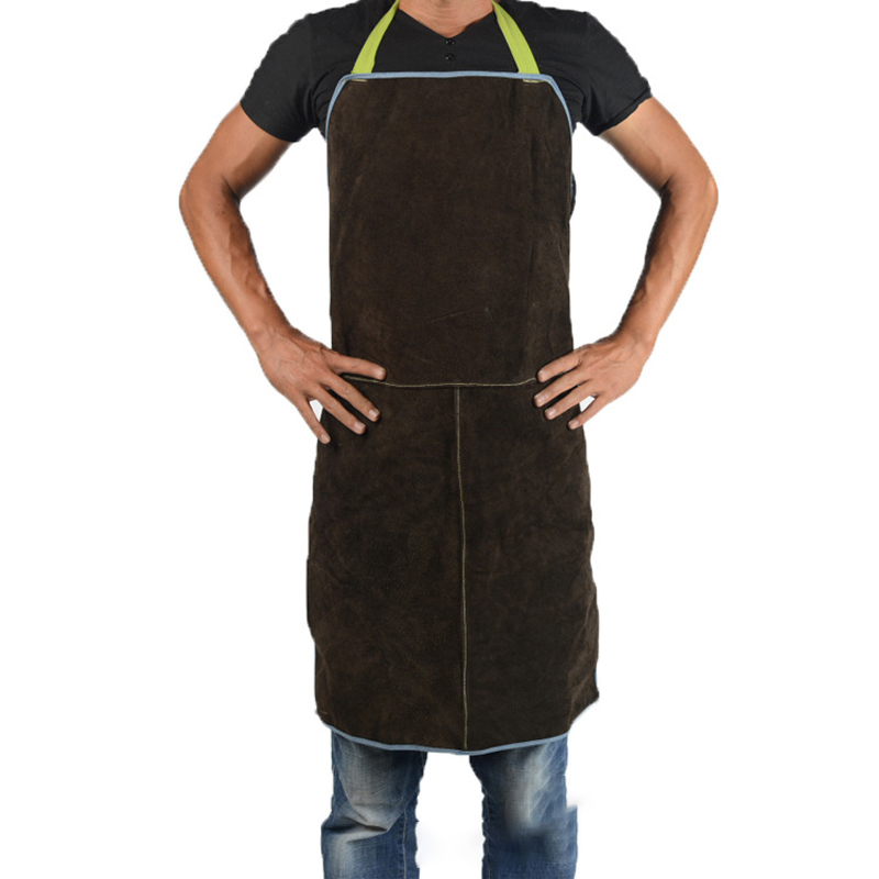 3 Colors Clothing Fire Safety Apron Leather Safurance Welders Bib Blacksmith Apron Workplace Self Protect Heat Resistant Aprons