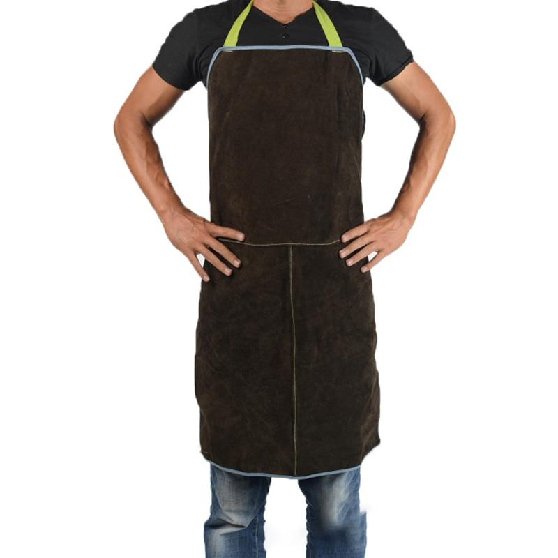 Safurance Welder Leather Welding Cutting Bib Shop Apron Heat Resistant ClothesSE