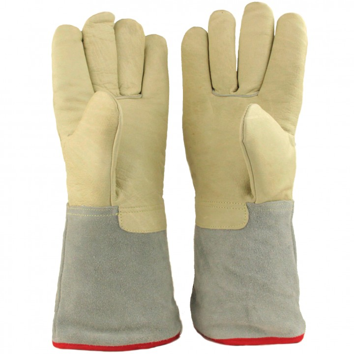 U.S. Solid 35 cm 13.8 Protective Gloves for Cryogenic Dewar Liquid Nitrogen Container u s solid 3 l liquid nitrogen container cryogenic ln2 tank dewar with straps 6 canisters 25 days